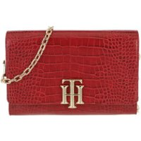 Tommy Hilfiger Crossbody Bags TH Lock Crossover Croco Arizona Red Croco - in rot - Umhängetasche für Damen