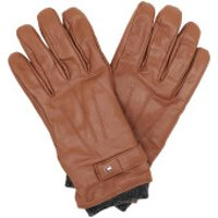 Tommy Hilfiger  Elevated Flag Leather Mix Gloves Cognac - in cognac - Handschuhe für Damen