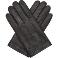 Tommy Hilfiger  Logo Embossed Leather Gloves Black - in schwarz - Handschuhe für Damen