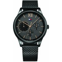Tommy Hilfiger  Men Multifunctional Watch 1791420 Black - in schwarz - Armbanduhr für Damen