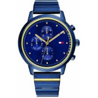 Tommy Hilfiger  Women Multifunctional Watch 1781893 Blue/Gold - in blau - Armbanduhr für Damen