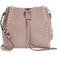 Valentino Bucket Bags Spike Small Shoulder Bag Leather Poudre - in rosa - Umhängetasche für Damen