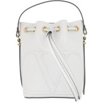 Valentino Bucket Bags V Logo Bucket Bag Leather White - in weiß - Umhängetasche für Damen