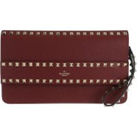 Valentino Clutch Rockstud Clutch Leather Cherry - in rot - Abendtasche für Damen
