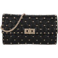 Valentino Clutch Rockstud Clutch Quilted Leather Black - in schwarz - Abendtasche für Damen