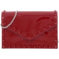 Valentino Clutch Small Rockstud Clutch Leather Red - in rot - Abendtasche für Damen