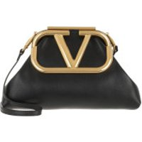 Valentino Clutch Supervee Clutch Leather Black - in schwarz - Abendtasche für Damen