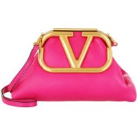 Valentino Clutch Supervee Clutch Leather Cyclamin Pink - in pink - Abendtasche für Damen