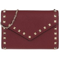 Valentino Crossbody Bags Rockstud Shoulder Bag Leather Cerise - in rot - Umhängetasche für Damen