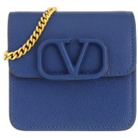 Valentino Crossbody Bags V Logo Sling Chain Wallet Leather Blue - in blau - Umhängetasche für Damen