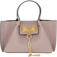 Valentino Handtaschen VLogo Escape Grained Leather Poudre - in rosa - Henkeltasche für Damen