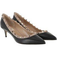 Valentino High Heels Rockstud Pumps Nero/Poudre - in schwarz - für Damen