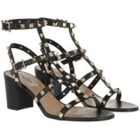 Valentino  Rockstud Sandals Leather Nero - in schwarz - Sandalen für Damen