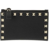 Valentino Wallet Rockstud Card Case Leather Black - in schwarz - Portemonnaie für Damen