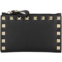 Valentino Wallet Rockstud Wallet Leather Black - in schwarz - Portemonnaie für Damen