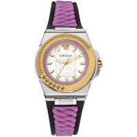 Versace  Chain Reaction Watch Silver-Tone - in lila - Armbanduhr für Damen