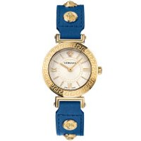 Versace  Tribute Watch Silver-Tone - in blau - Armbanduhr für Damen